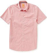 HUGO BOSS BOSS Orange Eglam Pinstripe Short-Sleeve Woven Shirt