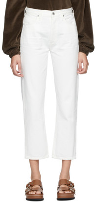 Citizens of Humanity Off-White McKenzie Curved Straight Jeans