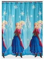 Disney Frozen Anna and Elsa Shower Curtain, Blue