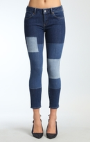 Mavi Jeans Adriana Ankle Super Skinny In Blocking Indigo Ico