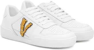 Versace Ilus Virtus leather sneakers