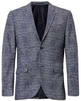Topman Blue Puppytooth Skinny Fit Suit Jacket