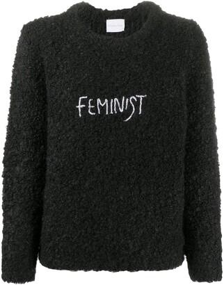 Antonella Rizza Feminist embroidery textured jumper