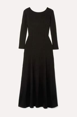 Mara Hoffman Gwyneth Ribbed-knit Midi Dress - Black