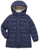 Save The Duck Little Kid's & Kid's Long Faux Shearling Lined Puffer Jacket