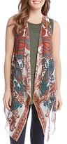 Karen Kane Sheer Print Vest