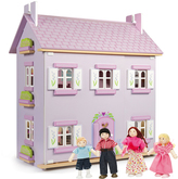 Le Toy Van NEW Lavender House with Doll Family