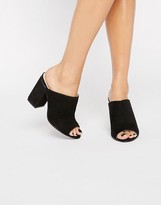 London Rebel Block Heel Mules
