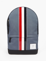 Thom Browne Canvas And Leather Backpack