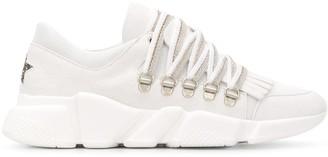 Lorena Antoniazzi Fringed Chunky-Sole Sneakers