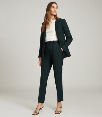 Reiss Sadie - Wool Blend Slim Fit Blazer in Green