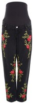 Topshop MATERNITY Rose Embroidered Mom Jeans