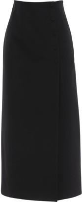 Gucci High Waist Faille Wrap Skirt
