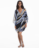 White House Black Market Kimono Sleeve Embroidered Print Dress
