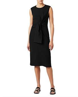 David Lawrence Tie Front Dress
