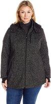 Halifax Traders Women's Plus Size Water Repellent Bonded Fleece Sweater Jacket