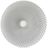 Jay Imports Glass Spiro Silver-Tone Charger Plate