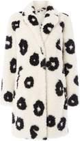 Oui Animal print faux fur coat