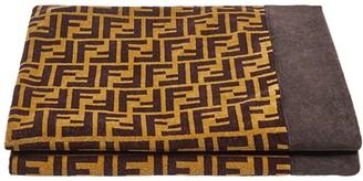 Fendi Brown Monogram Towel