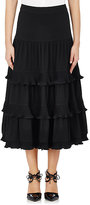 Co Women's Ruffled Skirt-BLACK