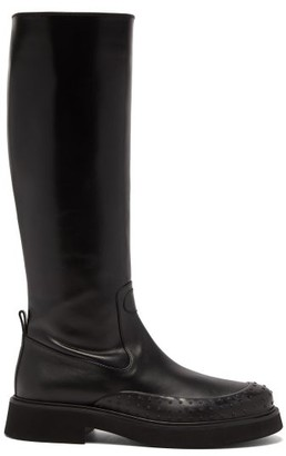 Tod's Gommini Knee-high Leather Boots - Womens - Black