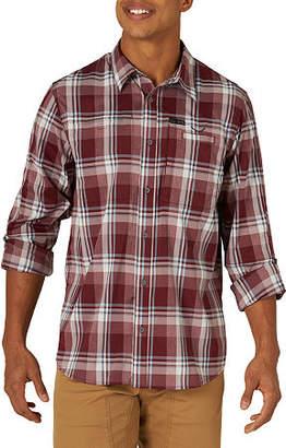 Wrangler All Terrain Gear Mens Long Sleeve Plaid Button-Front Shirt