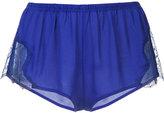 Fleur Du Mal Tap shorts - women - Silk/Polyester - L