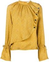 Derek Lam 10 Crosby mini paisley asymmetric blouse