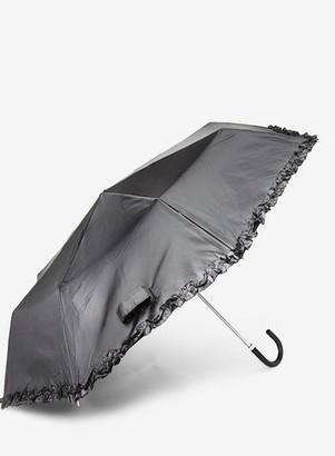 Dorothy Perkins Womens Black Frill Umbrella, Black