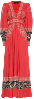 Etro Exclusive to Mytheresa Wool and silk maxi dress