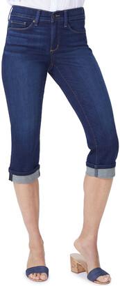 NYDJ Petite Marilyn Straight Crop Jeans