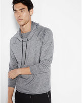 Express heathered funnel neck hoodie