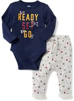 Old Navy 2-Piece Graphic Bodysuit & Leggings Set for Baby