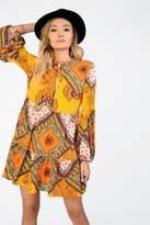 **Festival Multi Print Smock Dress by Glamorous
