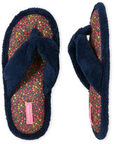 Isaac Mizrahi Floral Terry Thong Slippers