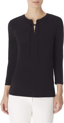 Anne Klein Women's LACE UP Tunic TOP