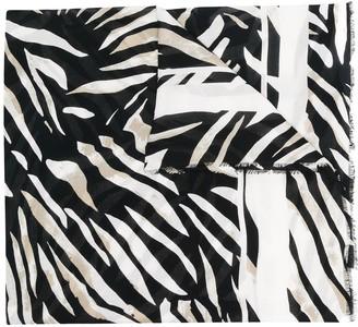 Etro Zebra Print Scarf