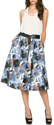Denim Spot Blue Rose Skirt