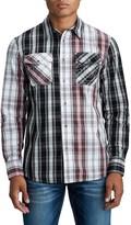 True Religion Panel Plaid Print Slim Fit Shirt