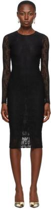 Versace Jeans Couture Black Mesh Logo Dress