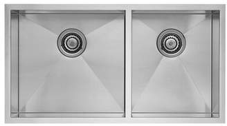 "Blanco Quatrus R0 33"" L X 18"" W Double Basin Undermount Kitchen Sink"