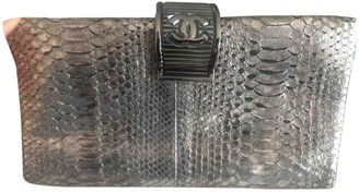 Chanel Timeless/Classique Metallic Python Clutch bags