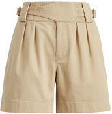 Polo Ralph Lauren Pleated Twill High-Rise Short