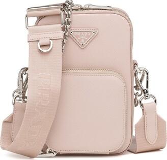 Prada Saffiano triangle-logo mini bag