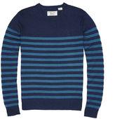 Original Penguin Indigo Stripe Crew Neck Sweater