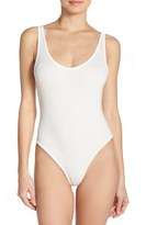 Free People Stretch Cotton Leotard Bodysuit