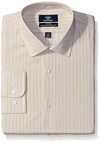 Dockers Yellow Stripe Fitted Shirt - Spread Collar