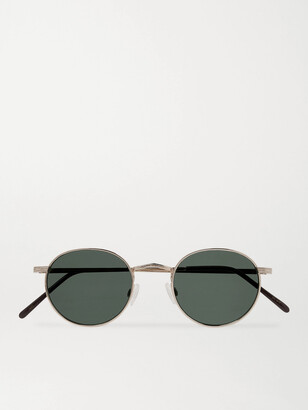MOSCOT Dov Round-Frame Gold-Tone Sunglasses