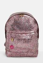 Missguided Mi pac Pink Glitterball Back Pack, Multi