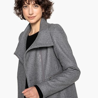 La Redoute Collections Wool Mix High Neck Coat